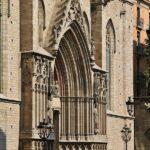 Portada de la Basílica de Santa María del Mar en Barcelona