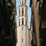 Torre octogonal de la Basílica de Santa María del Mar en Barcelona