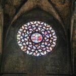 Rosetón de la Basílica de Santa María del Mar en Barcelona