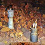Luces de carburo en las minas de hierro del parque minero del Maestrat