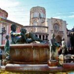 Plaza de la Virgen en el centro histórico de Valencia