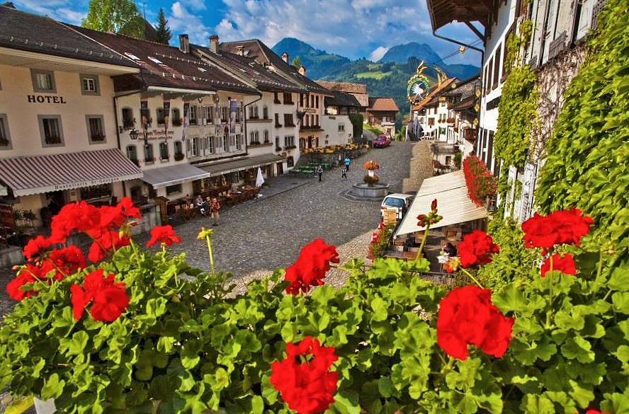 Gruyéres en la región de Friburgo @Foto: Turismo Suiza