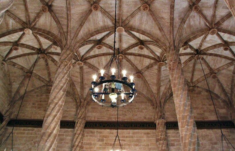 Salón Columnario de la Lonja de la Seda en Valencia