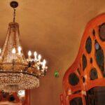 Lámpara en la Casa Batlló de Gaudí en Barcelona