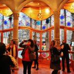 Salón principal de la Casa Batlló de Gaudí en Barcelona