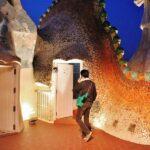 Azotea de la Casa Batlló de Gaudí en Barcelona