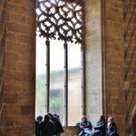 Rincón del Salón Columnario de la Lonja de la Seda en Valencia