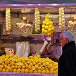 Puestos de venta de futras en el Mercado Central de Valencia