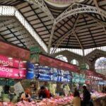 Pescaderías en el Mercado Central de Valencia