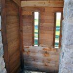 Matacán de madera en el castillo de Tiedra en Valladolid