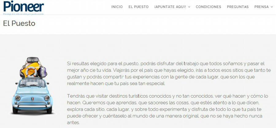 Proyecto Expedia Pioneer en España