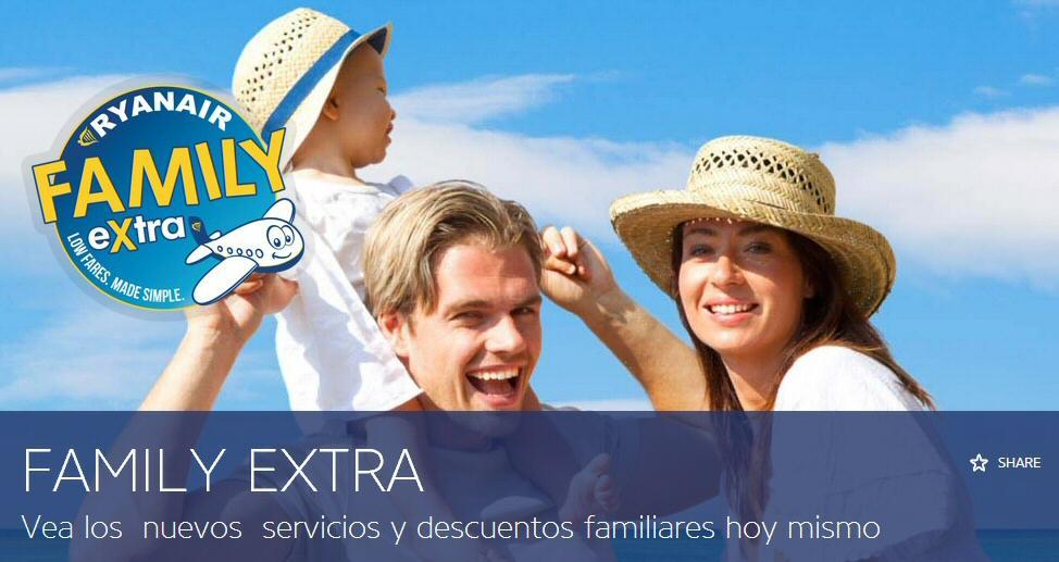 Nuevo servicio Ryanair Family Extra