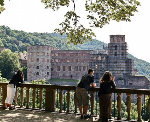 Jardines del Castillo de Heidelberg en Alemania