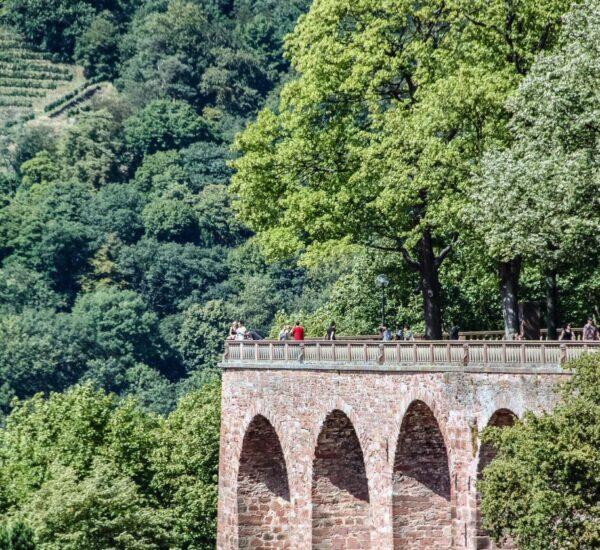 Miradores del castillo de Heidelberg en Alemania