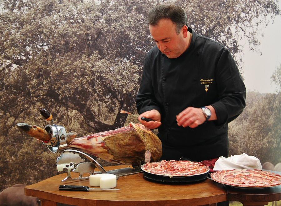 Corte de jamón ibérico Dehesa de Extremadura