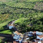Vistas panorámicas desde el castillo de Feria en Badajoz