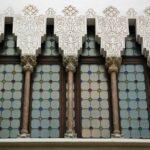 Decoración del patio interior del Palau Macaya en Barcelona