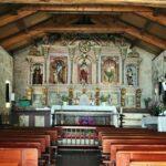 Iglesia de San Roque en Combarro en las Rías Bajas de Galicia
