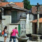 Plaza de la Fuente de Combarro en las Rías Bajas de Galicia