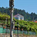 Cruceiro en Combarro en las Rías Bajas de Galicia