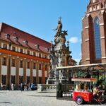 Rincón de la Isla de la Catedral en Wroclaw en Polonia