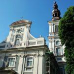 Iglesia en el centro histórico de Wroclaw en Polonia
