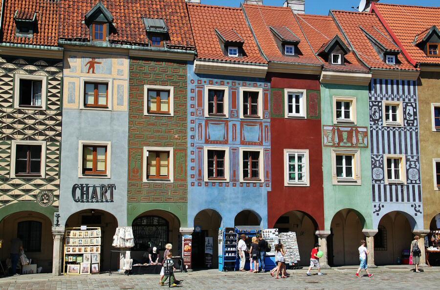 Plaza del Mercado de Poznan en Polonia