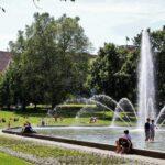 Jardines en el centro de Poznan