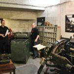 Imprenta clandestina en el museo de la Insurrección de Varsovia en Polonia