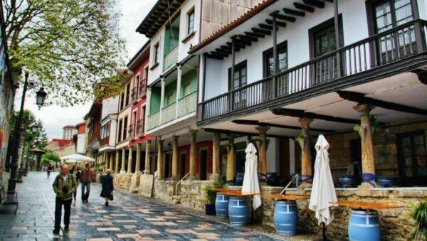 Calle Galiana en Avilés en Asturias