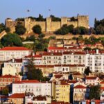 Vistas del Castillo de San Jorge de Lisboa desde mirador San Pedro de Alcántara