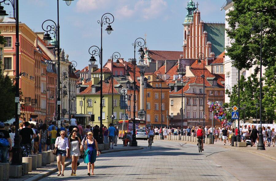 Camino Real en la Ciudad Antigua de Varsovia