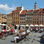 Plaza del Mercado en la Ciudad Vieja de Varsovia