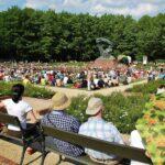 Concierto gratis de música de Chopin en el parque Lazienki de Varsovia