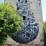 Grafiti en el barrio de Praga en Varsovia