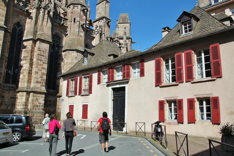 Ciudad medieval de Rodez en Aveyron al sur de Francia