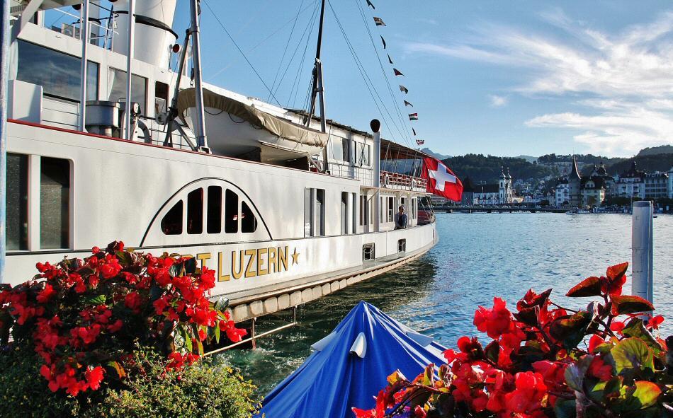 Cruceros en el Lago Lucerna en Suiza