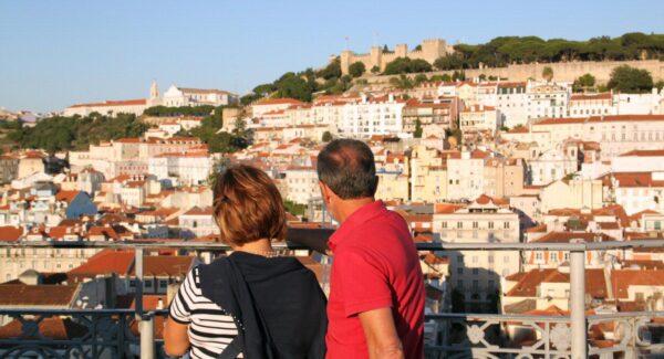 Vistas de Lisboa desde el Elevador de Santa Justa