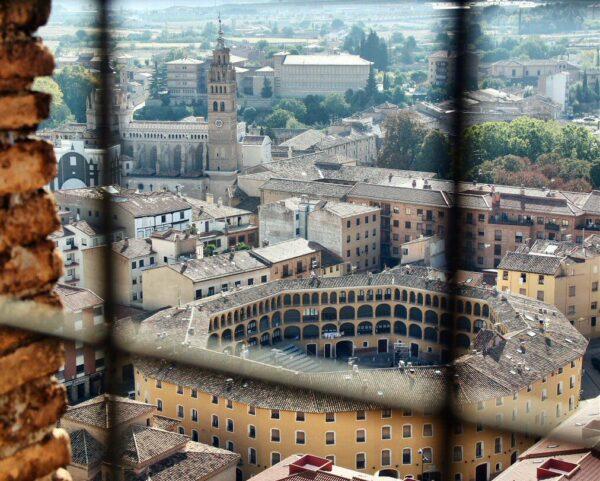 Vistas desde la torre campanario de la Iglesia de la Magdalena en Tarazona