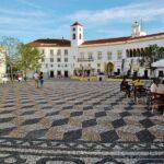Plaza de la República en Elvas en la región de Alentejo en Portugal