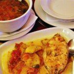 Sopa de pescado en Café Alentejo en Evora