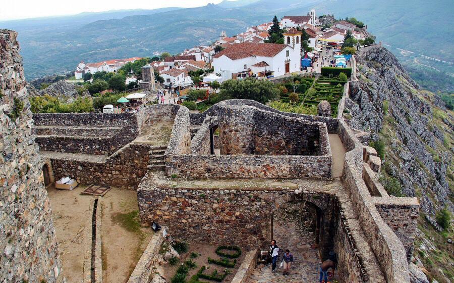 vistas del marvao desde el castillo en alentejo en portugal