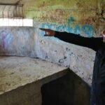 Antiguo nido de metralladora del Cinturón de Hierro en Berango