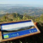 Vistas panorámicas de la comarca de Uribe desde el monte Jata Bizkaia