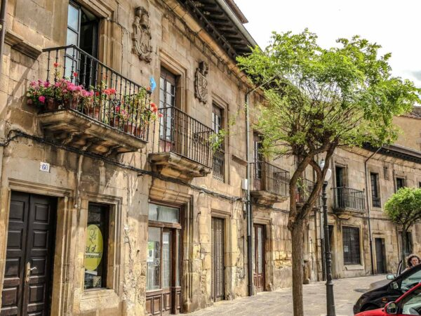 Centro histórico de Villaviciosa en Asturias