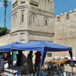 Torre de la muralla de la Medina de Tetuán en Marruecos