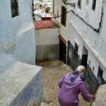 Cuestas en la Medina de Tetuán en Marruecos
