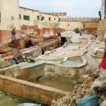 Curtiduría de pieles en la Medina de Tetuán
