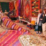Venta de alfombras en la Medina de Tetuán