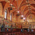 Sala gótica del Ayuntamiento de Brujas en Flandes Bélgica
